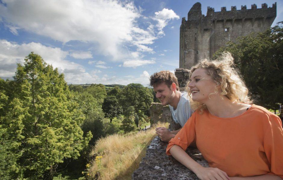 couple exploring Blarney castle - Clayton Hotel Cork City