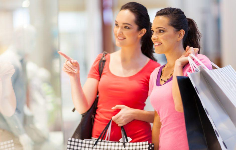 Girls Friends Shopping